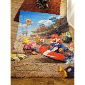 Nintendo mario kart reversible comforter